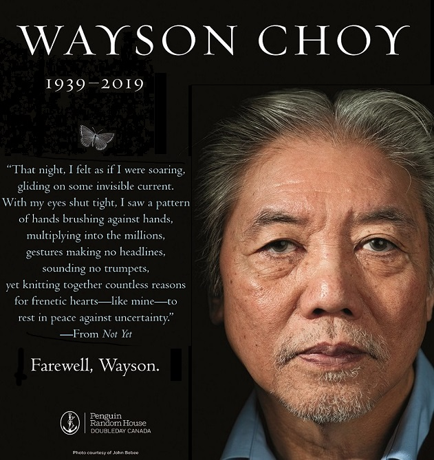 Wayson Choy | Photo Credit: John Bebee